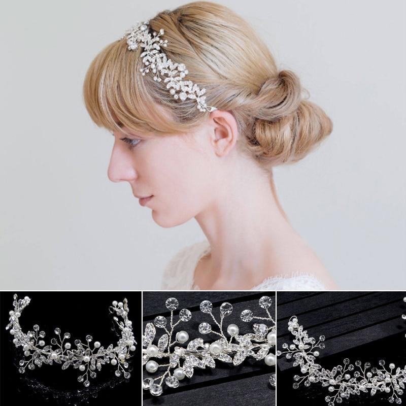 moda nova artesanal cristal strass casamento cabeca banda acessorios de cabelo nupcial