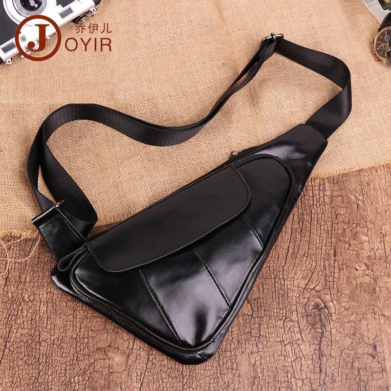 بوتيك أوصى في الهواء الطلق الموضة حقيبة صدر للرجال حقيبة جلدية سوداء جديدة جلد البقر حقيبة ساعي الكتف