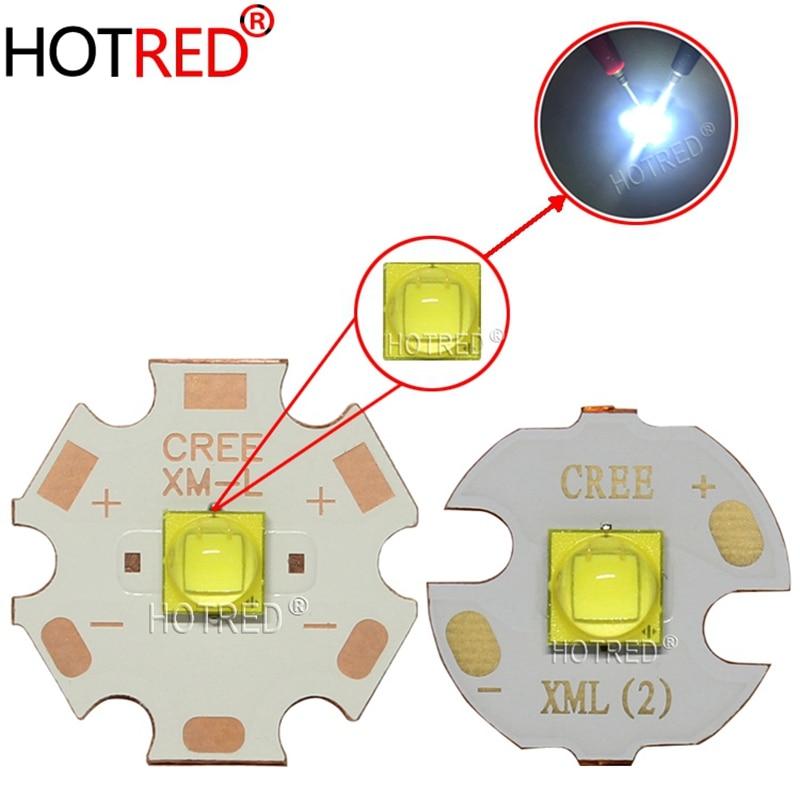 CREE xlámpara Original XM-L3 XML3, blanco frío 17W SMD5050, diodo emisor de luz LED para linterna, pieza DIY con tablero de aluminio y cobre
