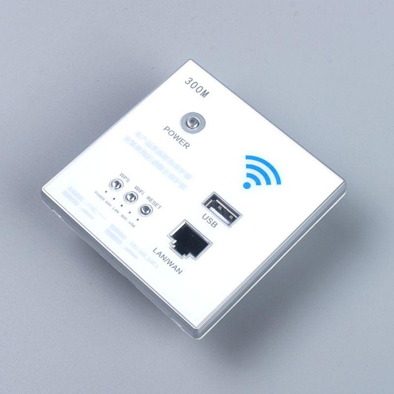 300 Мбит/с 220 В умный беспроводной WIFI ретранслятор удлинитель настенный встроенный роутер розетка