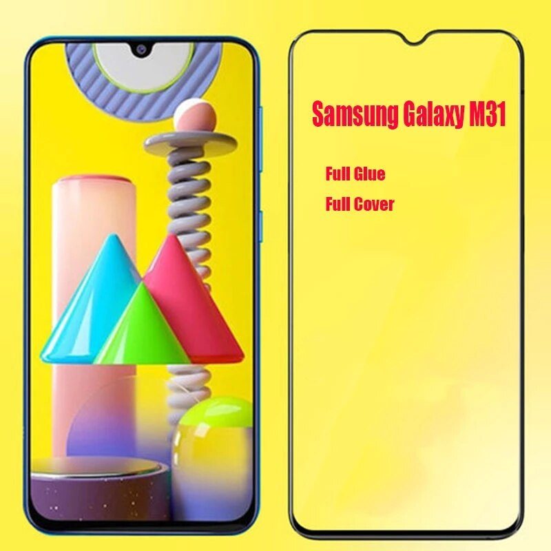 3D Full Glue Tempered Glass For Samsung Galaxy M31 Full Cover Safety Protective film Screen Protector For Samsung Galaxy M31