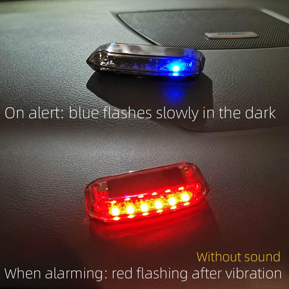 Car Fake Security led' Light Solar Powered Simulated Dummy Alarm Wireless Warning Anti-Theft Caution Lamp LED Flashing Imitation