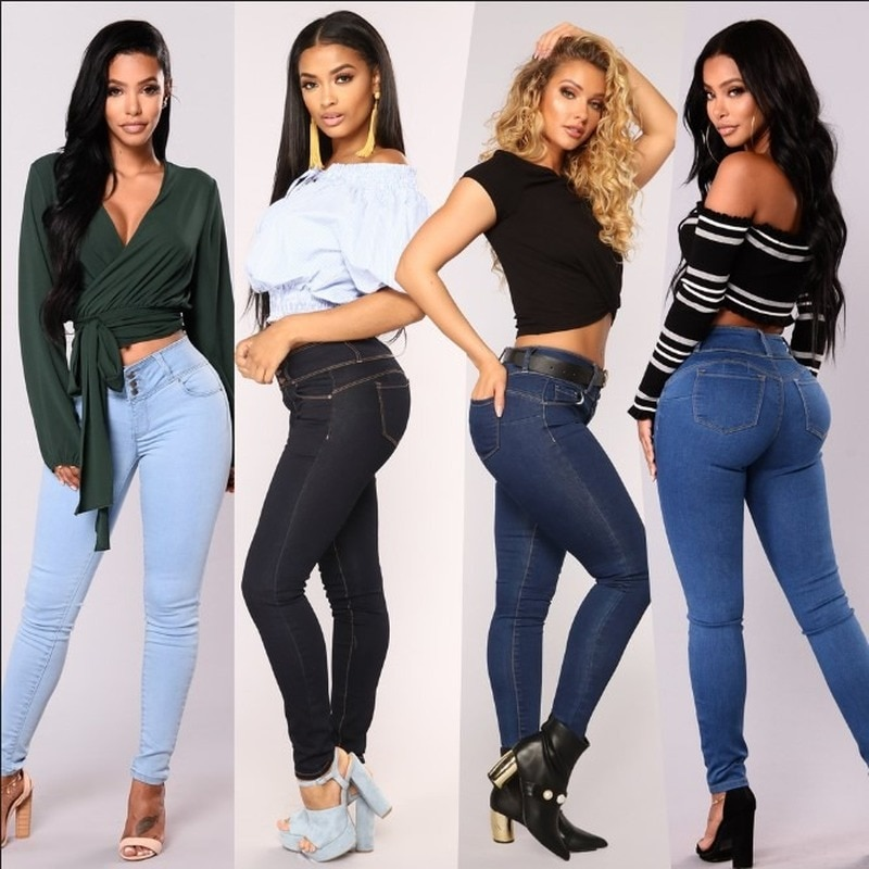 Denim Trousers Women's 2021 Spring and Autumn New Slim Foot Trousers Stretch Pencil Pants Women