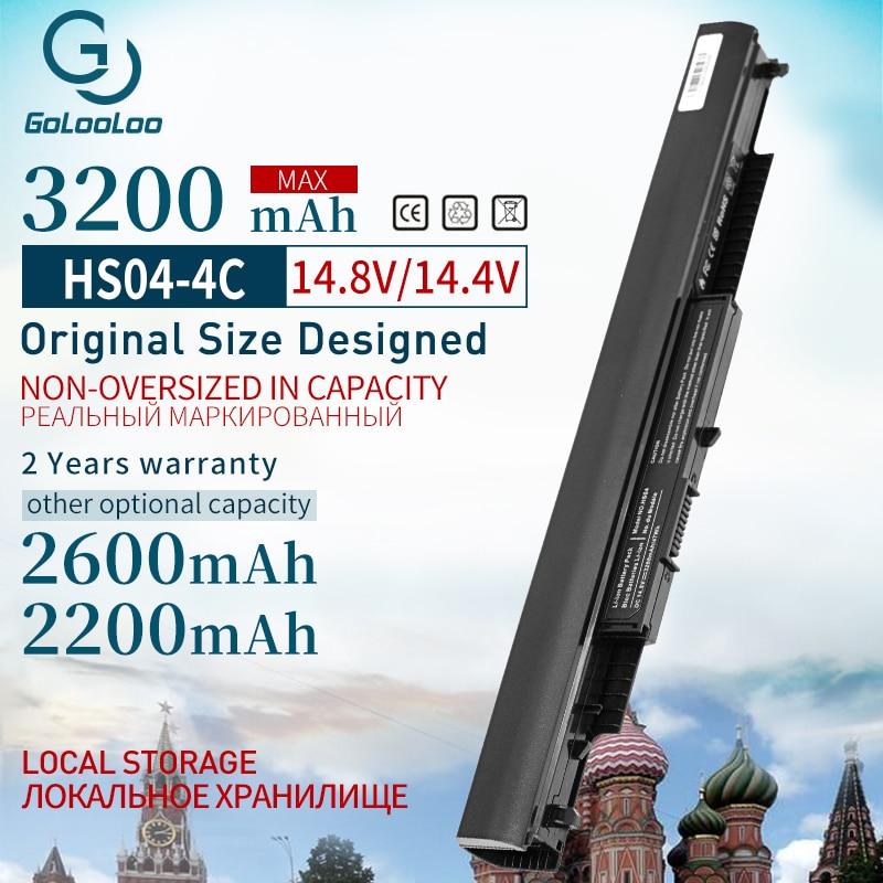 Golooloo 4 Cells 3200mAh Laptop Battery for HP Pavilion HSTNN-LB6U 807957-00 HS03 HS04 14-ac0XX 240