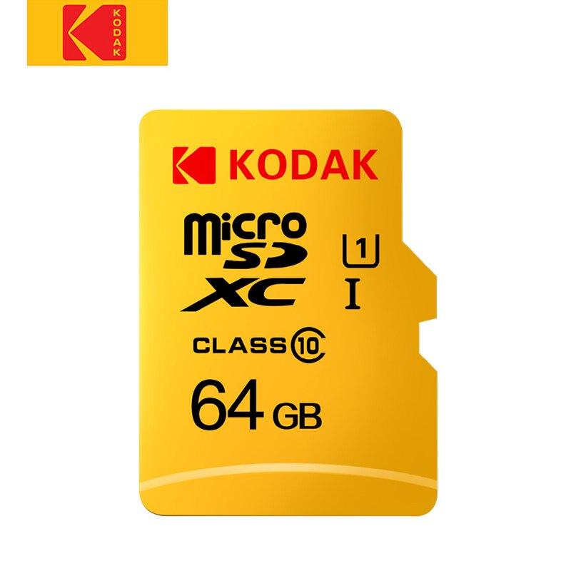Kodak 32GB 64GB classe cartão Micro SD de Alta Velocidade 10 U3 4K cartao de memoria 128GB cartão de Memória Flash de 256GB Micro sd kart mecard