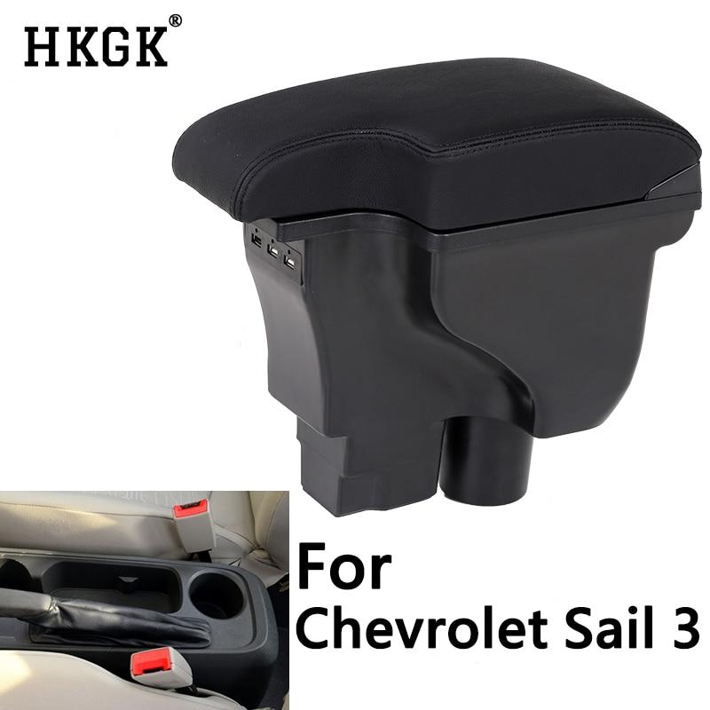 Reposabrazos de coche para Chevrolet Sail 3 nueva caja de almacenamiento Centro reposabrazos modificación portavasos interior accesorios de estilo de coche