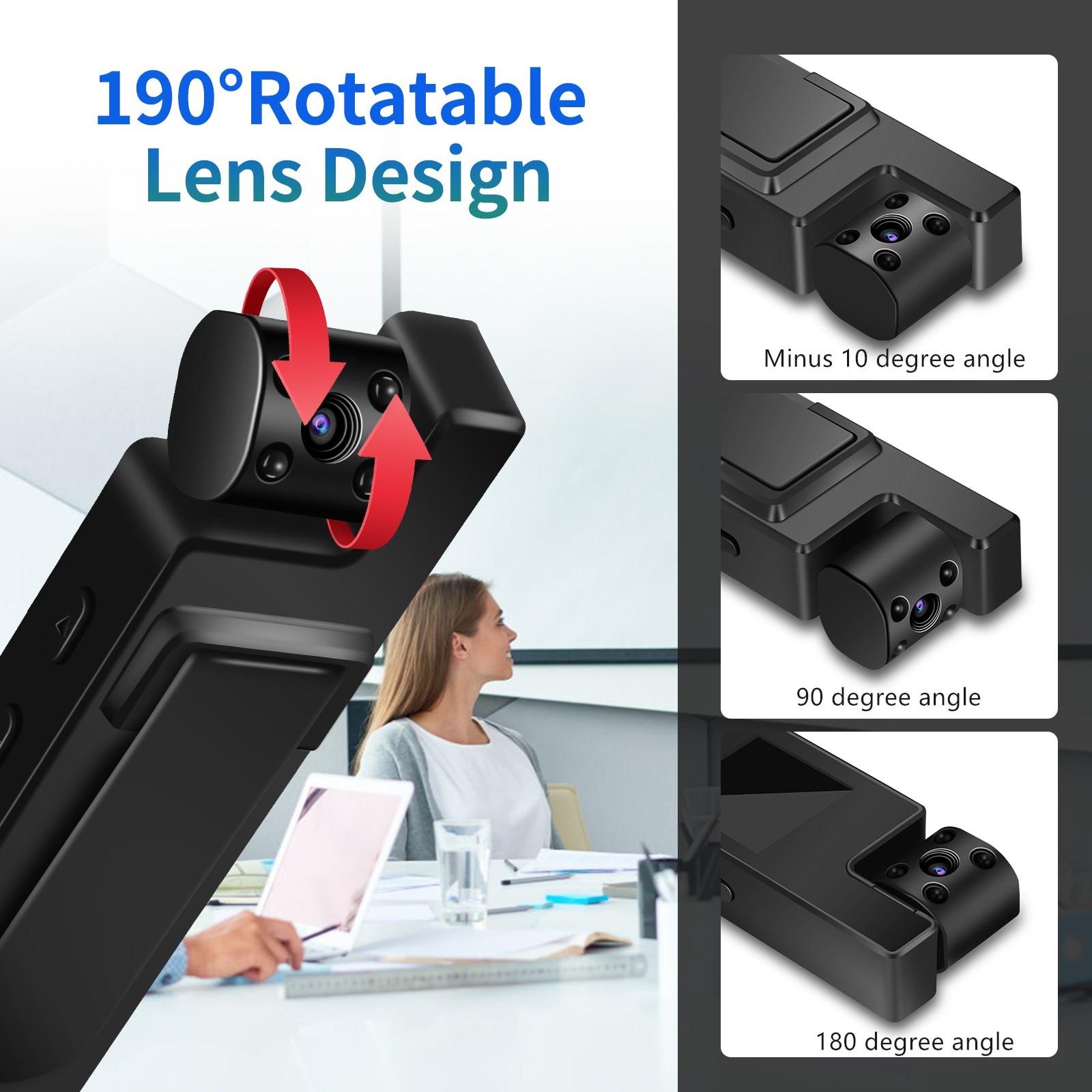 Body Camera Mini Digital Camera HD Screen Night Vision Motion Detection Snapshot Loop Camcorder Sports enlarge