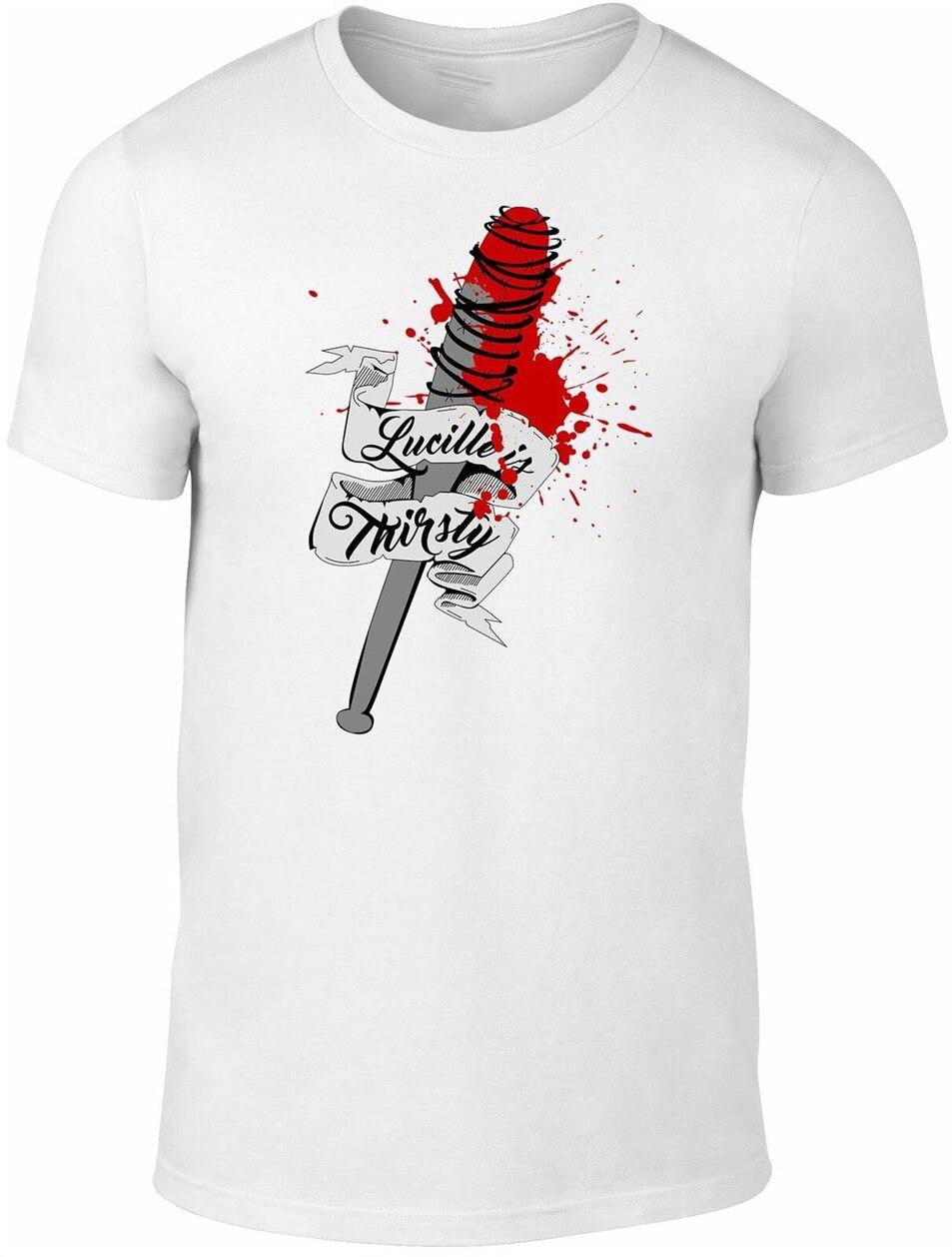 Camiseta de Lucille Is thirty para hombre-inspirada por zombis Walking Dead Walkers Tv nueva Unisex divertida camiseta
