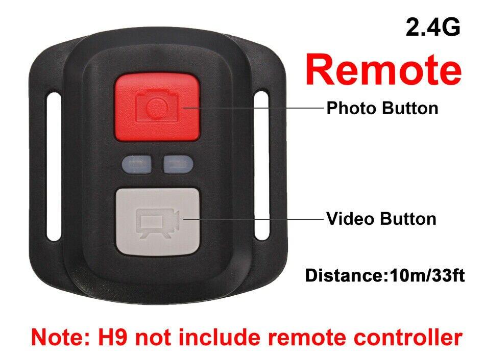 Original EKEN control remoto 2,4G RC para Cámara de Acción EKEN sport cam h9r / h3r / h8r / h9r plus / H6S / H5s plus / H7
