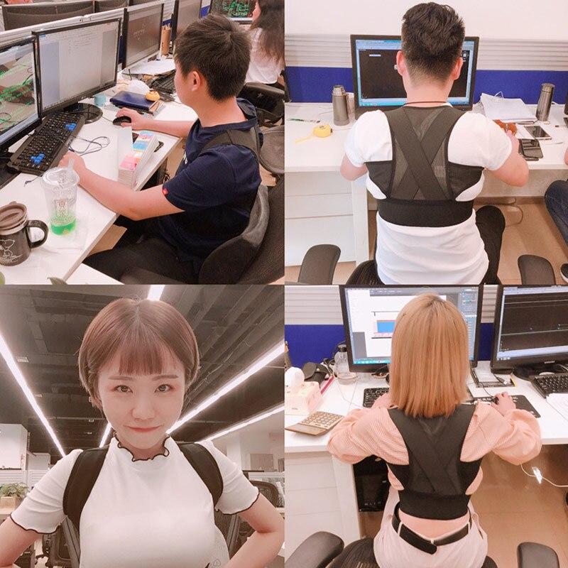 Crianças adultos postura corrector respirável ombro corcunda correção cinta cinto sec88