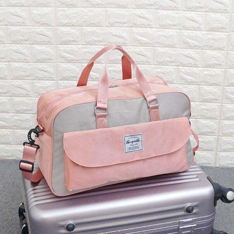 Bolsas de viaje para hombres, bolsas de lona para viaje para mujer, bolso de viaje diario resistente al agua Oxford, bolso grande para llevar en el hombro, bolso de gimnasio