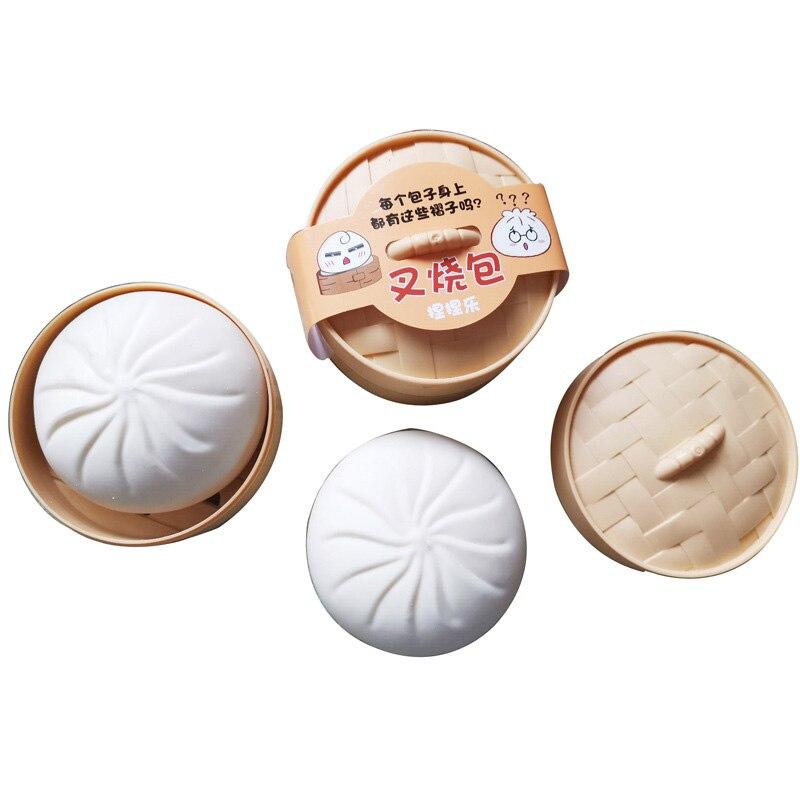 1PC Decompression Artifact Kitchen Play Kawaii Buns Squeeze Slow Rebound Office Adult Anti Stress Toy Kid Gift  Fidget Sensory enlarge