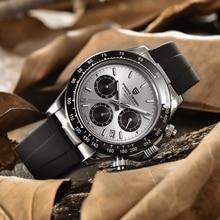PAGANI DESIGN Sports Men's Chronograph Top Brand Rubber Strap Luxury Fashion Men's Quartz Waterproof