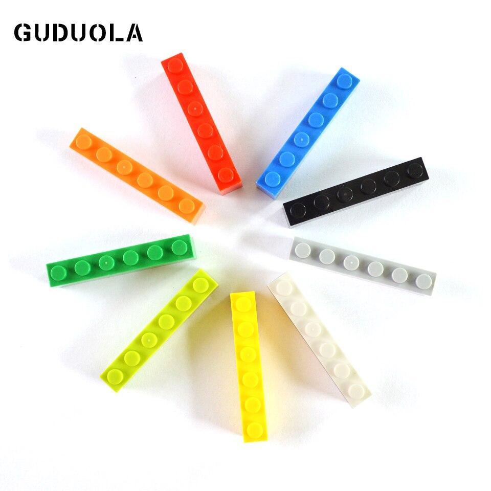 Конструктор с высокими частицами 1x6, маленькие строительные блоки, игрушки «сделай сам», совместимы со всеми брендами, игрушки MOC 3009, подарок...