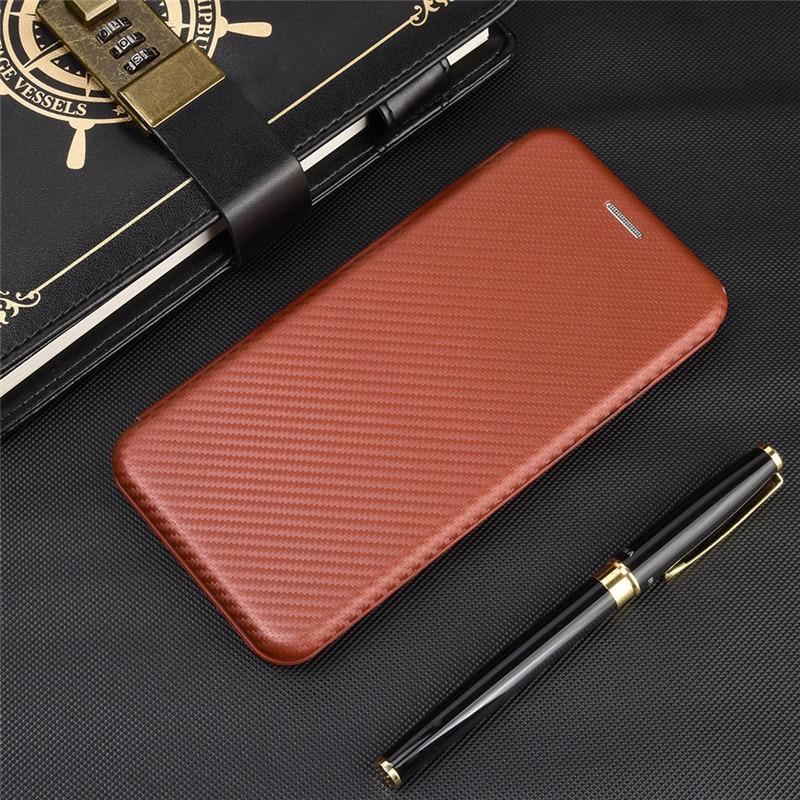 Funda abatible de cuero PC de fibra de carbono de lujo para OPPO Reno 3 3 Pro 2Z 2F A ACE ACE2 3A funda magnética integrada de Japón