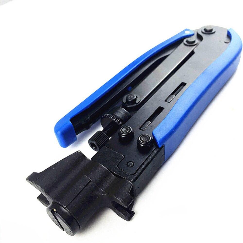 Alicates de crimpado de cables, alicates de crimpado para TV, pinzas de Cable para conector RG59 RG6 RG11, herramienta manual impermeable sellada