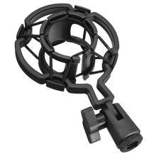 Microphone Shock Mount Desktop Holder Stand Black Plastic Studio for Condenser Microphone