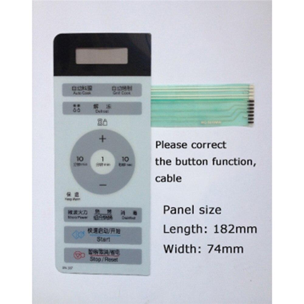 Interruptor de membrana para LG horno de microondas parte MG-5018MW MG-5018MV MG-5018MWR Control botón táctil microondas Reparación de Panel partes