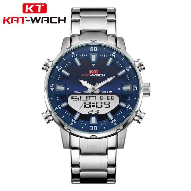 Watch Double Display Quartz Watches Sports Top Brand Luxury Mens Waterproof 50M Watches Male Wristwatch Relogio Masculino