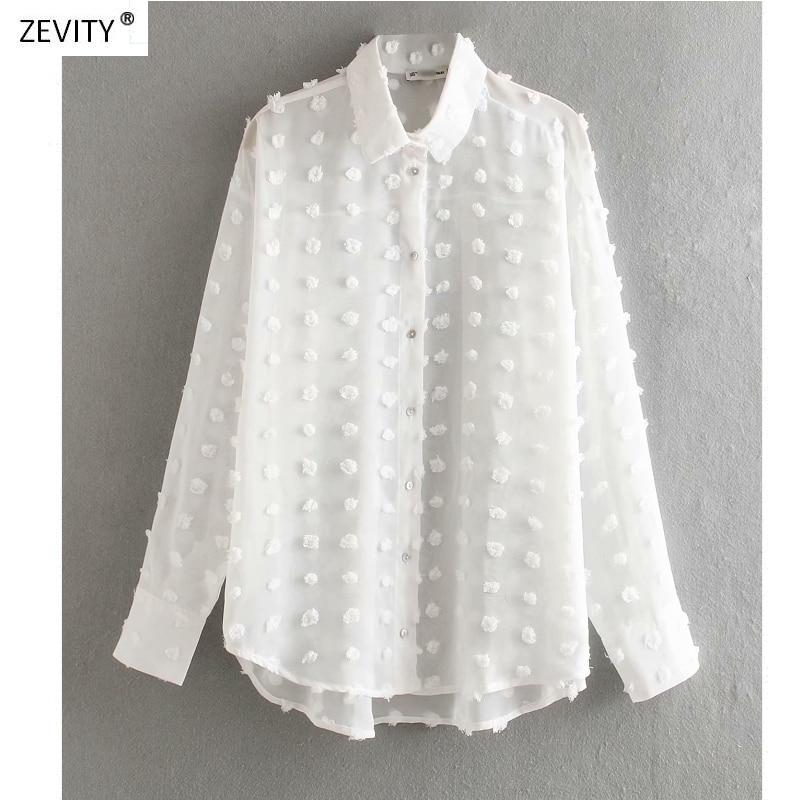 AliExpress - new women fashion dot stitching casual chiffon blouse shirt women long sleeve chic blusas perspective white chemise tops LS3725