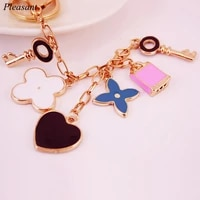 exquisite clover keychain fashion heart shaped metal key ring 24 8cm ladies chartered car pendant charm gift