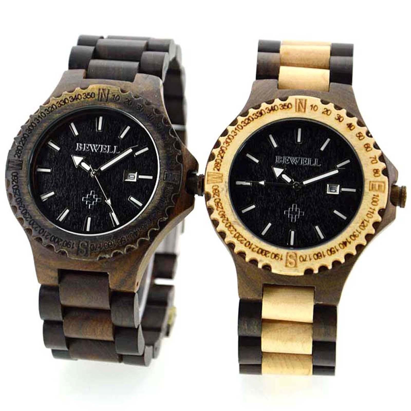Retro Wood Quartz  Watch Wristwatch with Date Male relogio masculino Wood Watch Boxes Multi-Functional Wristwatch dropshipping