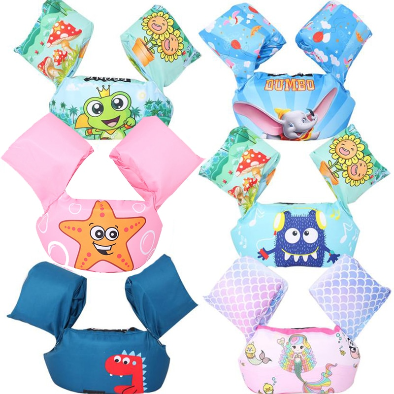 baby puddle jumper water sports swimsuit Float Cartoon Arm Sleeve Life Jacket Swimsuit Foam Safety S