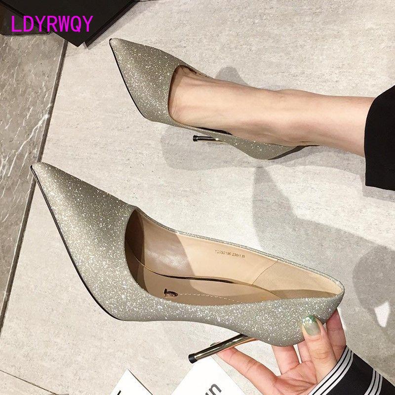 Женские универсальные туфли на высоком каблуке-шпильке, черные или красные привлекательные туфли на шпильке, осень 2021