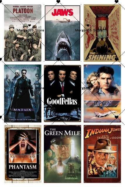 Best Selling Classic Movie Metal Sign Metal Poster Tin Sign Plaque Metal Vintage Wall Decor for Bar Pub Club Man Cave Metal Sign