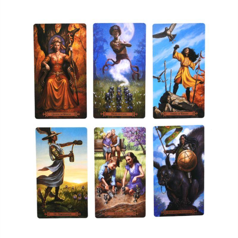 78pcs Modern Spellcaster's Tarot Full English Tarot Cards Deck Family Board Game Drop Shipping