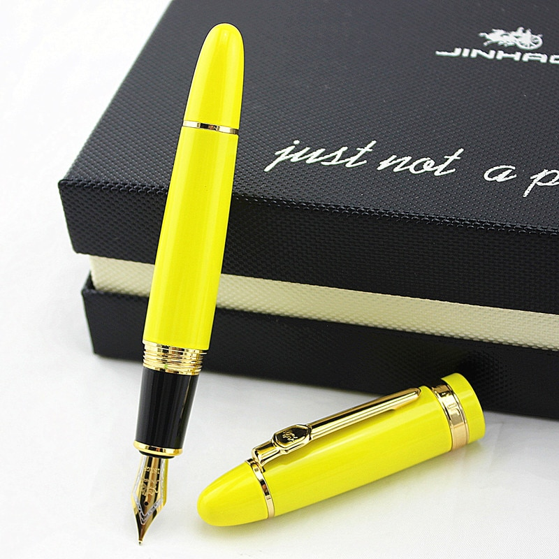 JINHAO 159 18KGP 0,7 мм перо с широким основанием авторучка черный цвет шампанского золото белый красный зеленый синий желтый 18 видов цветов на выбо...