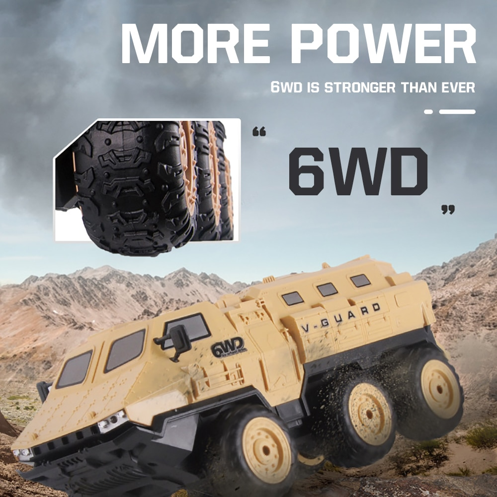 2020 Newest 1:16 RC Truck 6WD Racing Crawler Car 6WD Military Remote Control Army Armored Car Off-Road Army Truck for Kids enlarge