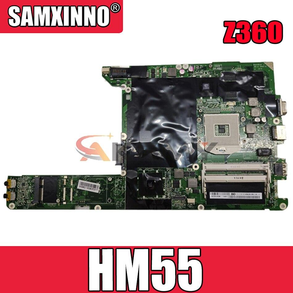 لوحة لينوفو ايديا باد Z360 لوحة الأم DALL7AMB6E0 اللوحة PGA989 HM55 11012402 N11M-GE2-S-B1 100% اختبار