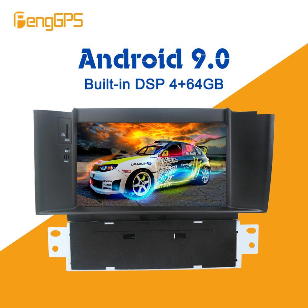 Pour Citroen C4 C4L DS4 2011-2015 Android 10 Radio PX5 DSP voiture lecteur DVD multimédia GPS Navigation tête unité Autoradio stéréo