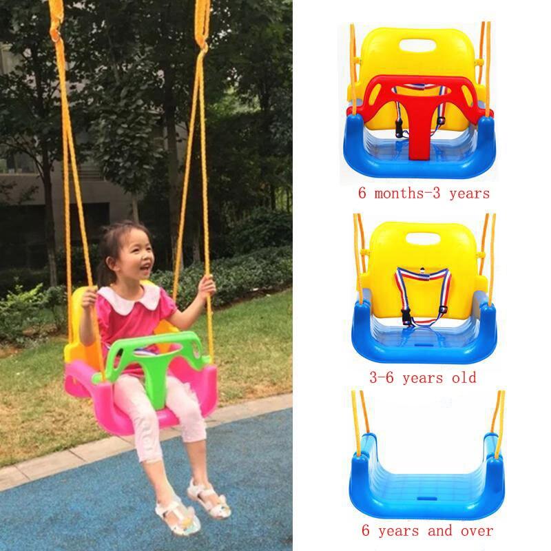 كرسي هزاز للأطفال ، سلة معلقة ، داخلي وخارجي ، لعبة قابلة للطي ، كرسي هزاز للأطفال ، ثلاثة في واحد