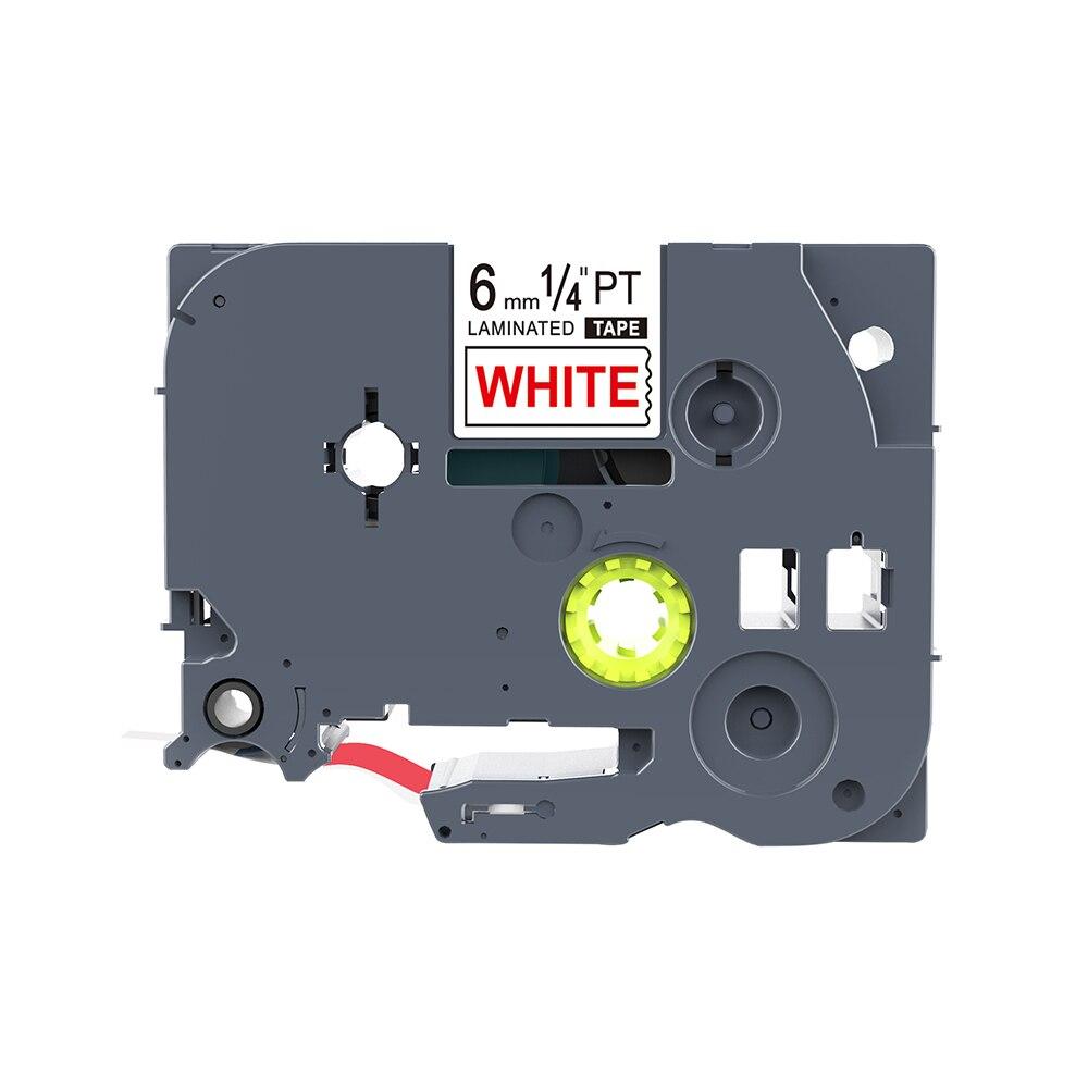 5 uds PUTY compatible tz212 TZ212 TZe-212 6mm * 8m cintas de etiquetas rojas y blancas para impresora de etiquetas PT200 1000 1010 D200 1100 p-touch