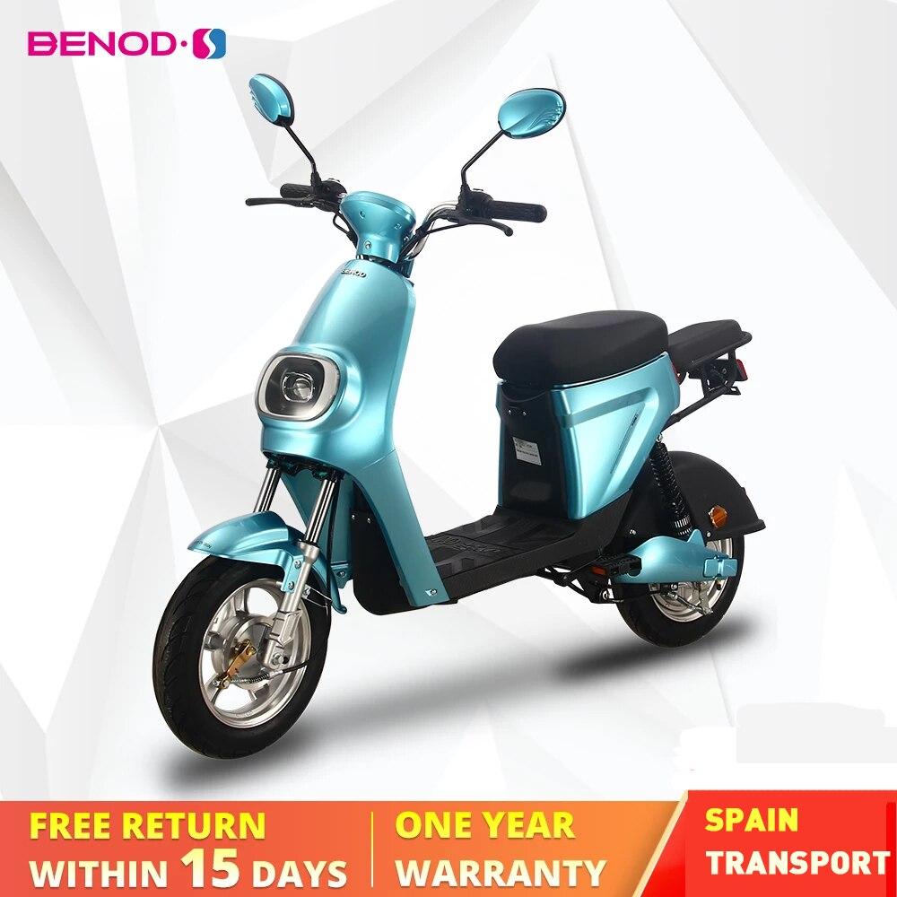 BENOD 25 km/h Motocicleta Eléctrica de litio batería Eléctrica para Moto Motor...
