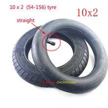 Le plus nouveau pneu de roue de gonflage 10x2 chambre à air 10 pouces Xiaomi Mijia M365 pneu de Scooter électrique 10*2 (54-156) pneu pneumatique