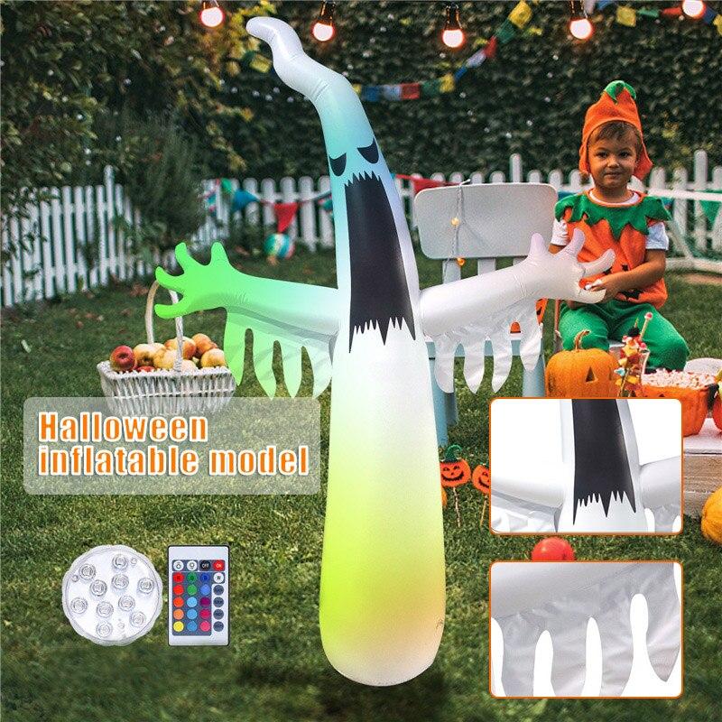 3,6 м складной надувной Призрак с красочной вспышкой Хэллоуин декоративные реквизиты для дома сада двора Jardim