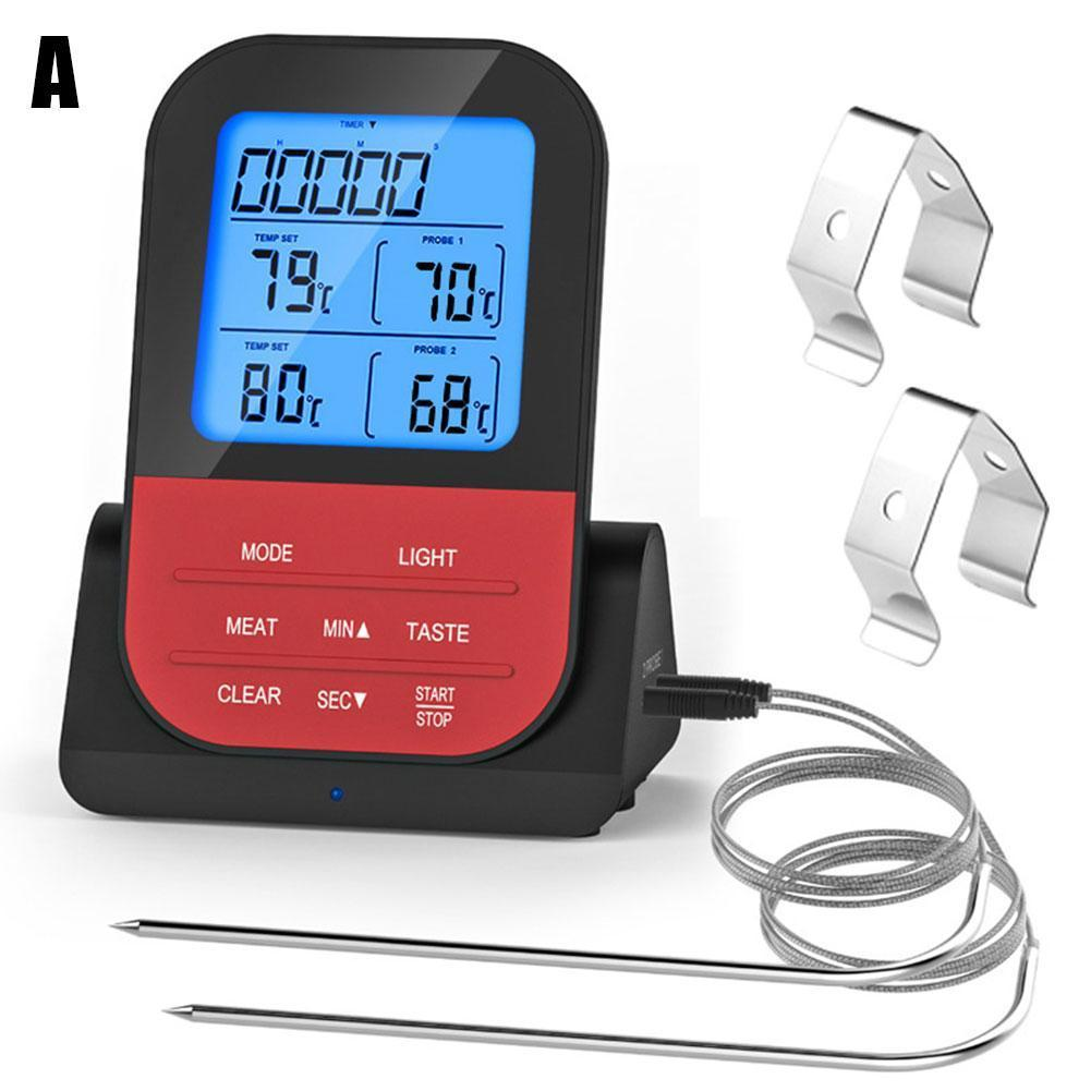 Multifunctional Food Thermometer Home Kitchen Wireless Thermometer Electronic BBQ Z1L6