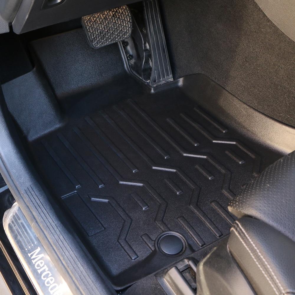 3D alfombras de coche resistentes al desgaste TPE para Toyota RAV4 2015-2018 alfombra de pie de coche estera proteger el Interior del automóvil