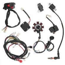 9 pièces 125cc 150cc 200cc 250cc CDI faisceau de câbles assemblage de Stator câblage pour vtt Quad Pit Dirt Bike Buggy aller kart