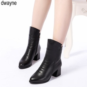 High Quality Knee High Boots Women Genuine Leather Winter Boots Comfortable Warm Wool Women's Long Boots Shoes 2019
