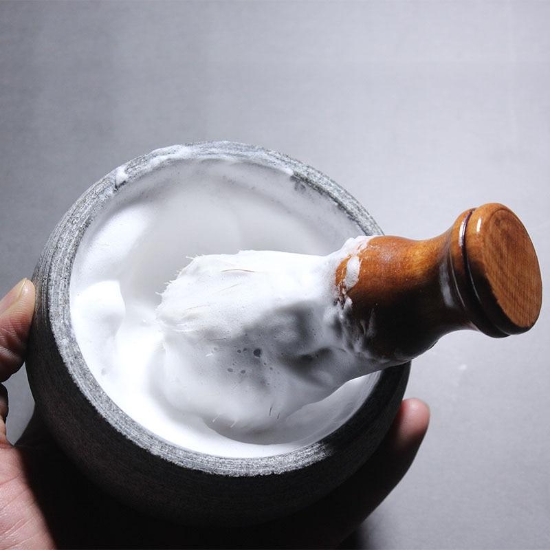 Artistic design, Shaving Soap Bowl, Foam Tool, Natural Stone, Good Heat Preservation, Easy To Foam, Shaving Cream Bowl