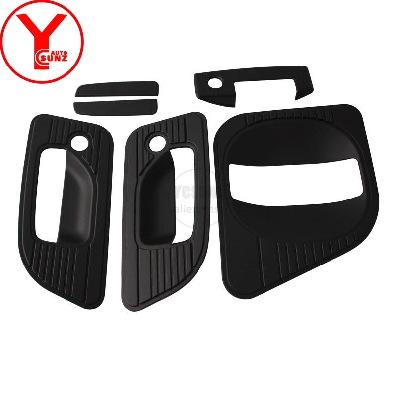 YCSUNZ-واقي مقبض الباب الأسود ، ملحقات سيارة لنيسان أورفان كارافان nv350 e26 2016 2017 2018 ، ABS