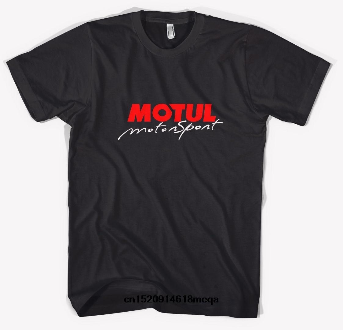 Camiseta Motul Motor negro camiseta para hombre cuello redondo algodón camiseta manga corta ropa