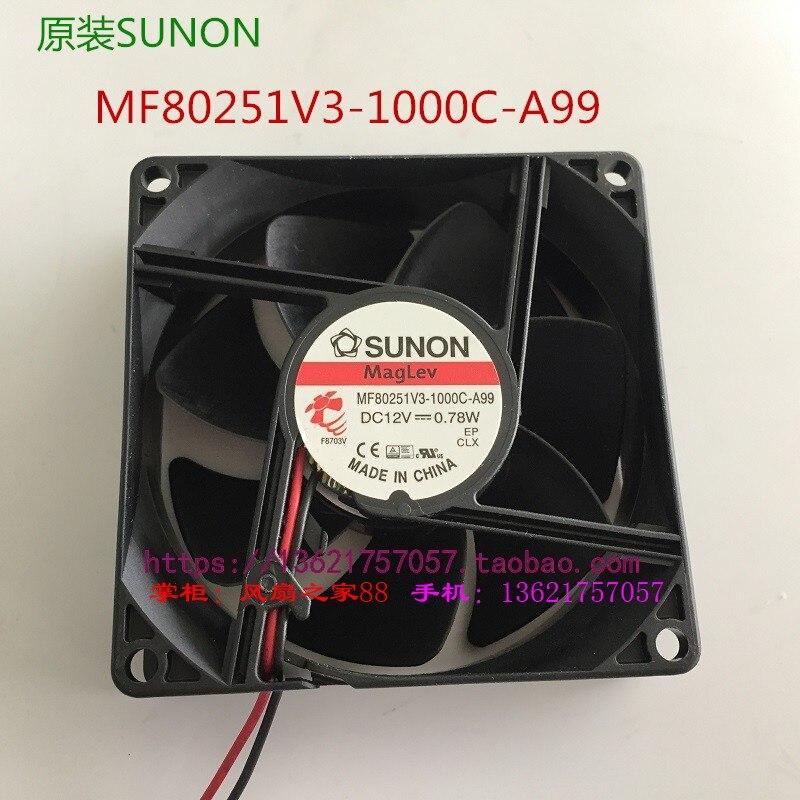 fulltech taiwan fuyou horizontal flow fan uf 9446cbp23 New original MF80251V3-1000C-A99 Taiwan SUNON built quasi fan 8025 0.78W12V silent fan