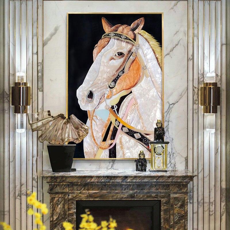 المينا اللوحة الزخرفية اليدوية الماس اللوحة ، غرفة المعيشة اللوحة الزخرفية غرفة الطعام جدارية ، الفن اللوحة