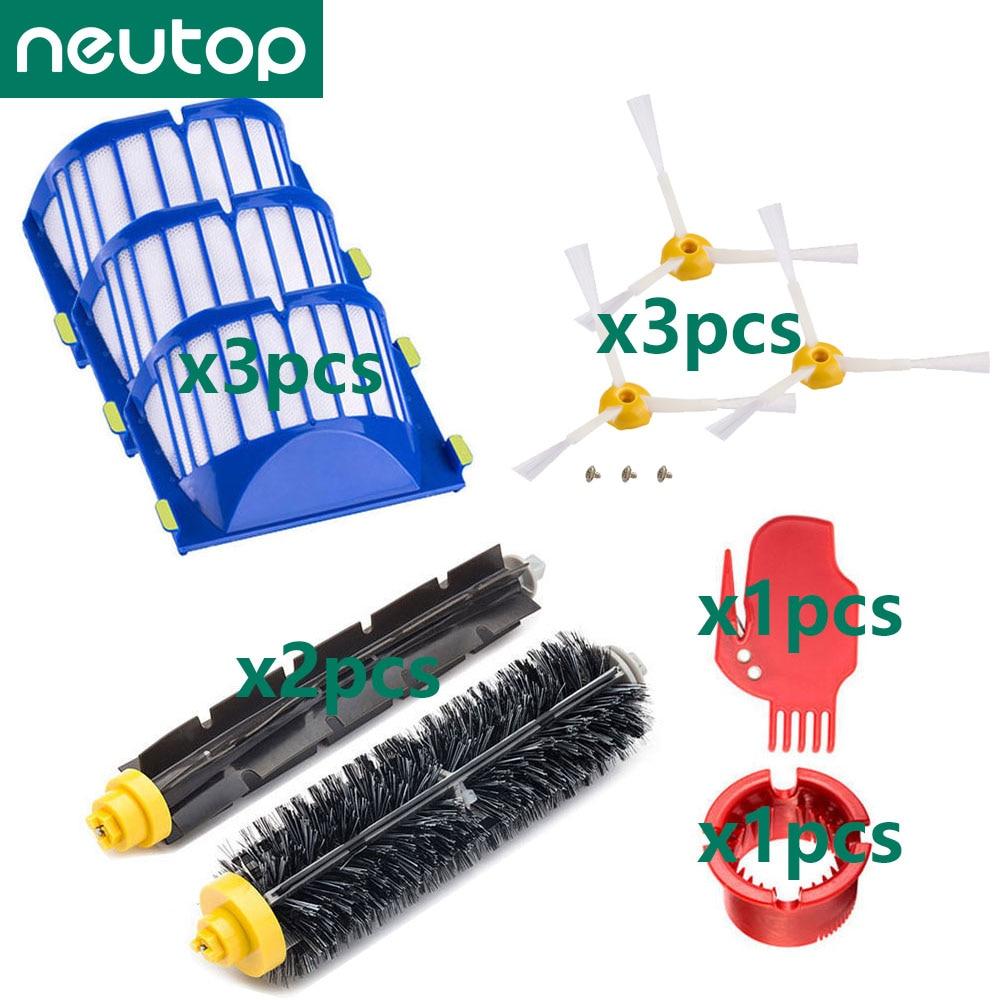 AliExpress - Filter Roller Brush for iRobot Roomba 600 Series 675 614 618 620 630 635 645 650 652 655 660 665 670 671 676 680 690 695 Part