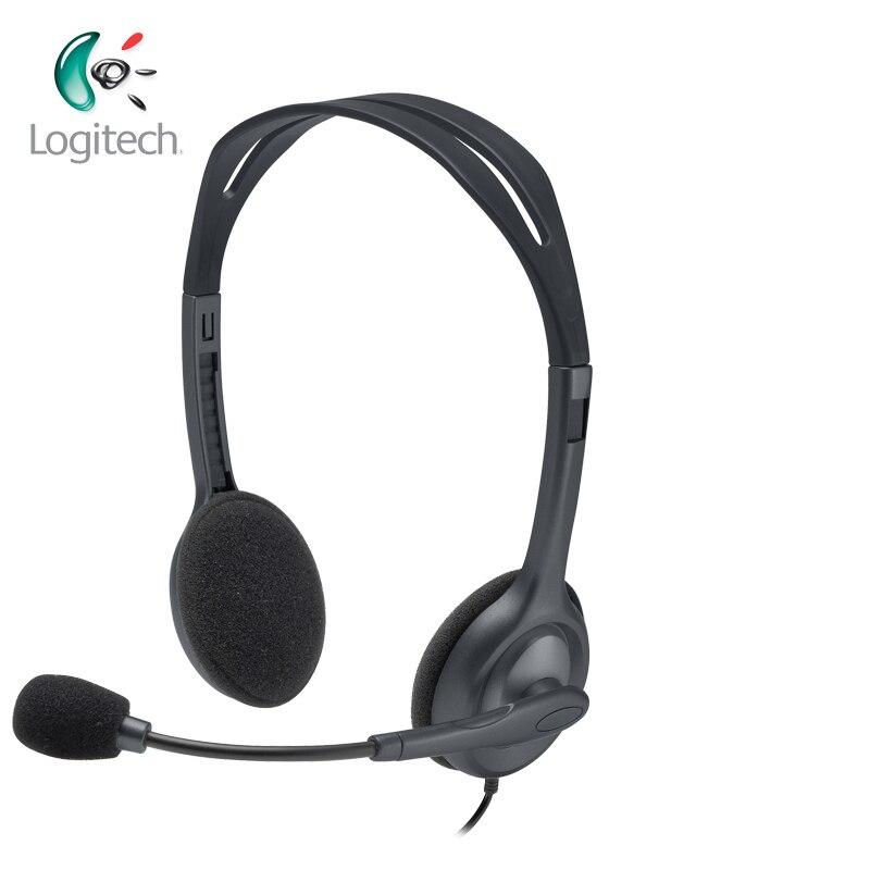 Auriculares estéreo Logitech H111 con múltiples dispositivos, auriculares para casi plataformas y operaciones